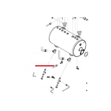 TUBE VIDANGE BOILER 3GR ORIGINE SAN REMO - FNAQ040