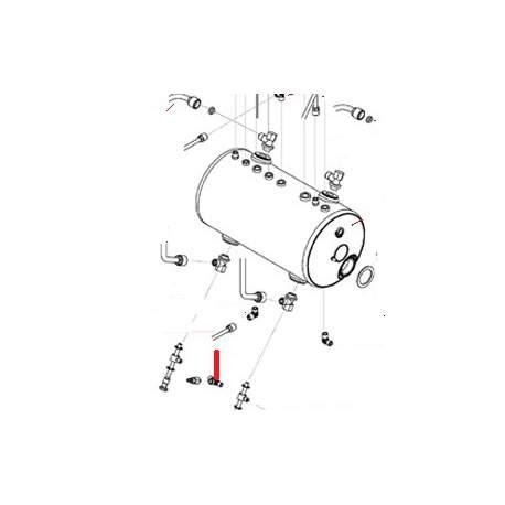 RACCORD T M/F/F 1/8 ORIGINE SAN REMO - FNAQ042