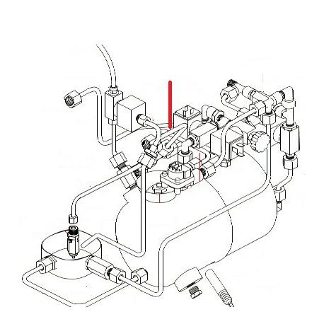 TUBE ROBINET VAPEUR MELANGEUR ORIGINE SIMONELLI - FQ6551