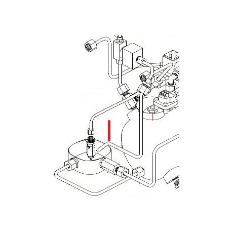 TUBE RACCORD DECHARGE/SOUPAPE ORIGINE SIMONELLI - FQ6587