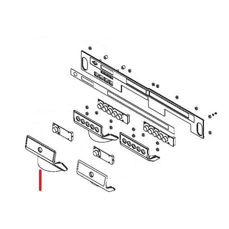 PLAQUE FRONTALE BASSE 1TR GRIS ORIGINE SIMONELLI - FQ6998