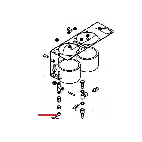 RACCORD TUBE 1/8M ORIGINE SIMONELLI - FQ6930