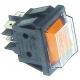 INTERRUPTEUR 30X22MM JAUNE LUMINEUX 230V 16A AVEC CAPOT - TIQ79834