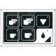 HQ368-CLAVIER CAFE/EAU DROIT RUMBA CLASSIC
