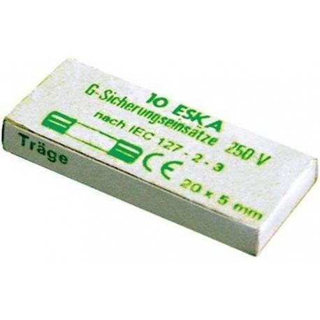 FUSIBLE 5X20 6.3A TEMPORISE 250V LOT DE 10 - TIQ8211