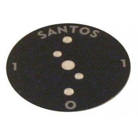 PLAQUE RONDE 0/1 ORIGINE SANTOS - FAQ39