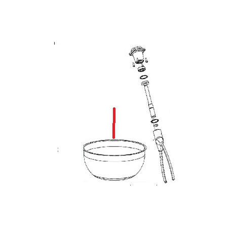 CUVE PETRIN 10L INOX ORIGINE SANTOS - FAQ041