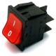 INTERRUPTEUR LUMINEUX ROUGE BIPOLAIRE 250V 16A L:30MM L:22MM - NFQ63715