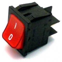 INTERUPTOR LIGHT RED BIPOLAR 250V 16A L:30MM L:22MM