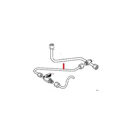 TUBE Ø8 L280MM ORIGINE ASTORIA - NFQ07555810