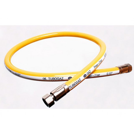 FLEXIBLE GAZ TUBOGAZ L:1000MM ENTREE 1/2F SORTIE 1/2F - TIQ70098