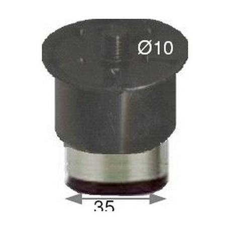 LOT DE 12 PIEDS REGLABLES INOX 50-70MM INOX - 107