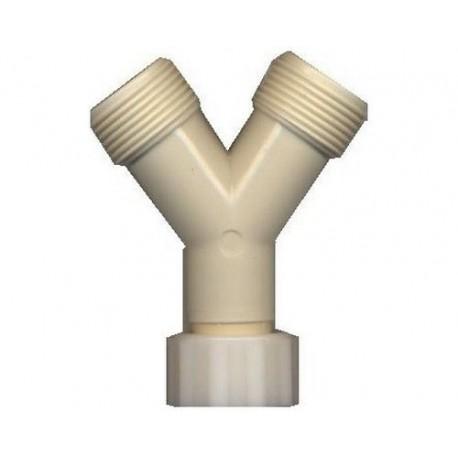 LOT DE 10 RACCORDS PVC 3/4 Y - 134
