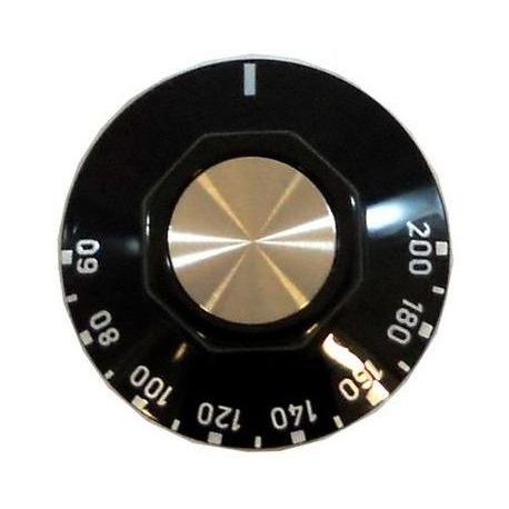 MANETTE NOIRE POUR THERMOSTATS EGO TMINI 60°C TMAXI 200°C - TIQ7142