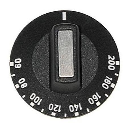 MANETTE NOIRE 50MM 60-200ø - TIQ7356