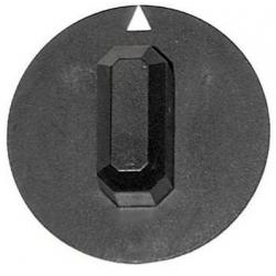 MANETTE AXE 6X4.6MM Ø44MM NOIRE ORIGINE