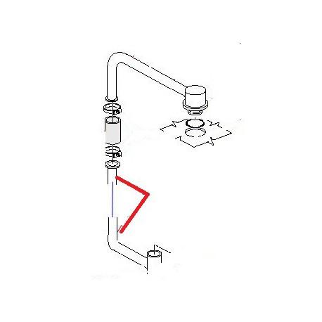 TUBE MONTEE EAU SF6 ORIGINE CIMBALI - PVYQ751