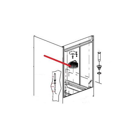 PORTE CONTACT MAGNETIQUE ORIGINE DIHR - QUQ7716