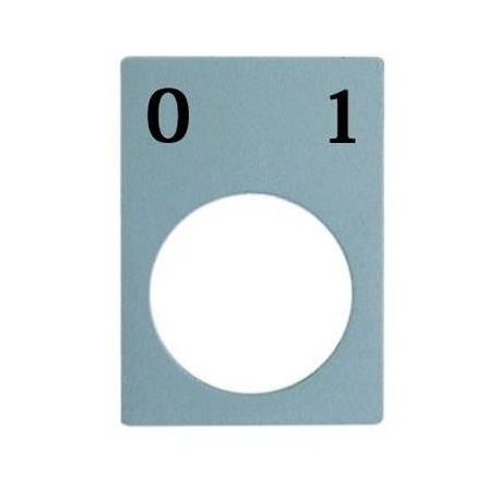 PORTE INDICATEUR SYMBOL 0-1 - TIQ8079