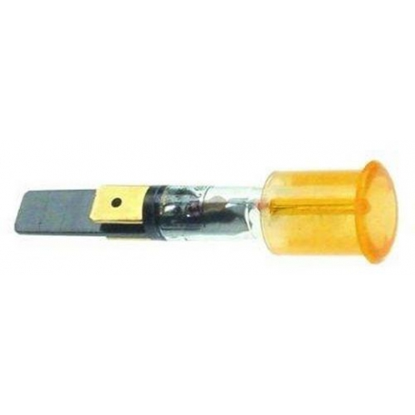 VOYANT ROUGE í14MM 230V COSSES 6.3MM TMAXI 120°C - TIQ8410