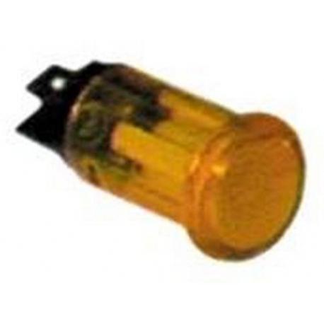 TIQ8439-LAMPE TEMOIN JAUNE 400V D16MM