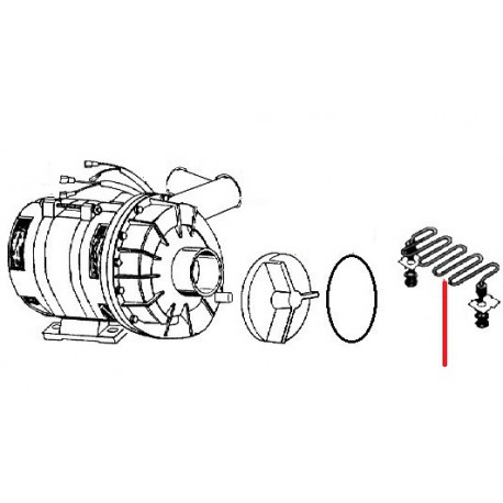 RESISTANCE CUVE 2000W 220V - STQ903