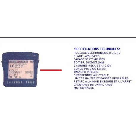 REGULATEUR -40/+140 2 SORTIES - TIQ66860
