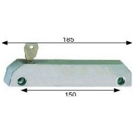 FERMETURE CHROME AVEC CLE - TIQ4702