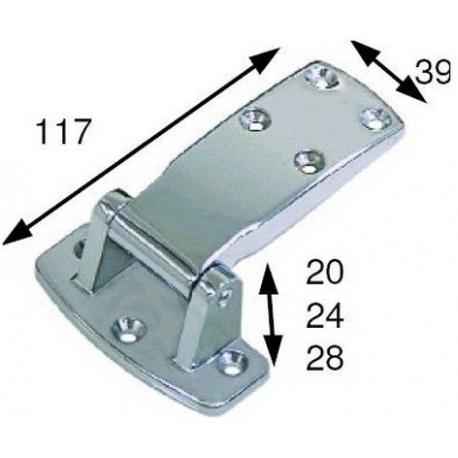 CHARNIERE 117X39X28MM ZAMAC - TIQ4903