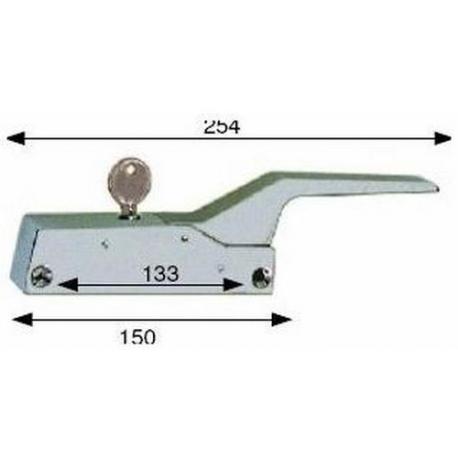 FERMETURE 150MM CLE+POIGNEE - TIQ4007
