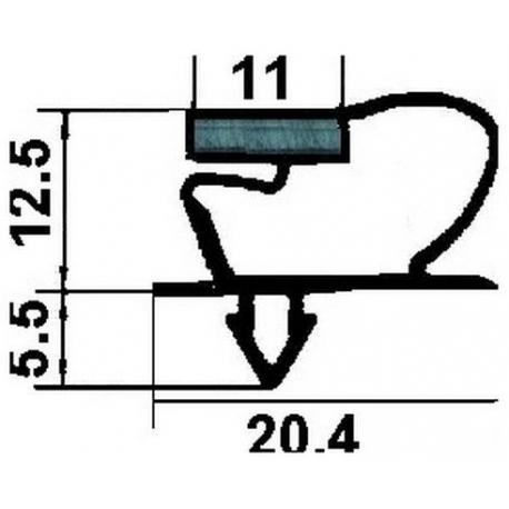 JOINT MAGNETIQUE GRIS +AIMANT - TIQ63055