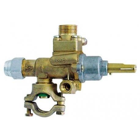 ROBINET GAZ PEL 22/V AVEC COLLIER RAC TC M8X1 - TIQ76690
