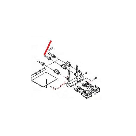 TUBE DEBIMETRE/2EME INJECTEUR - FZQ7538