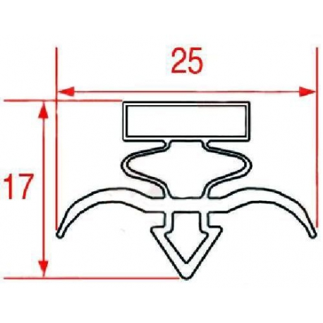 TIQ63918-JOINT POUR ARMOIRES REFRIGEREES L:1542MM L:598MM ORIGINE ODIC