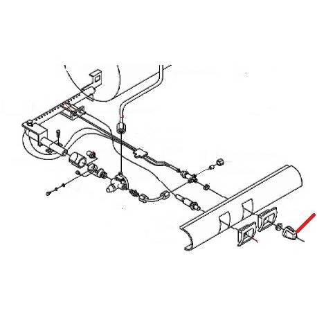 POIGNEE ROBINET GAZ NOIRE ORIGINE SAN MARCO - FZQ7763