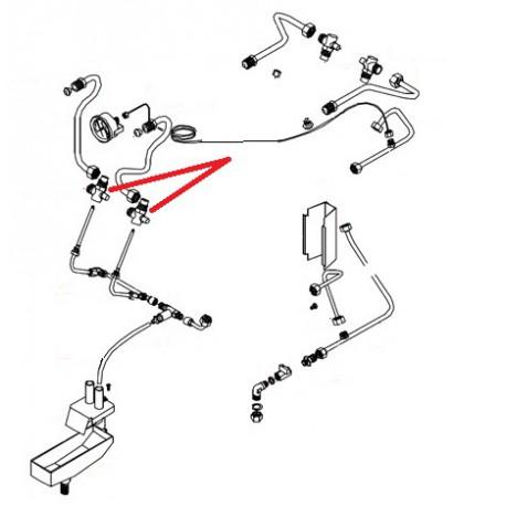 RACCORD EN T 1/2 INJECTEUR ORIGINE BEZZERA - ERQ6618
