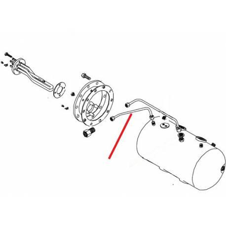TUBE ROBINET VAPEUR GAUCHE ORIGINE BEZZERA - ERQ6620