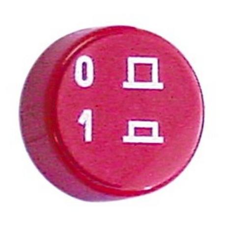 BOUTON CETSTRO1 ROUGE ORIGINE IME - TIQ60494