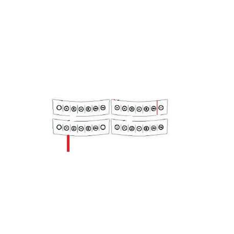 MEMBRANE CLAVIER CENTRAL 3GR ORIGINE FUTURMAT - NXQ796