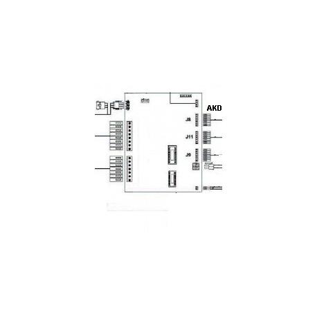 CARTE DE CONTROLE BRAVO P.C.B ORIGINE FUTURMAT - NXQ794