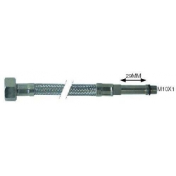 FLEXIBLE BOUT DRT 50CM INOX1/2 M10X1 100BAR Ø13.5MM