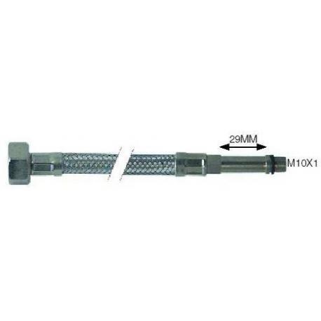FLEXIBLE COLONNE LONGUE L:400MM INOX 3/8F-M10X1 - TIQ2170