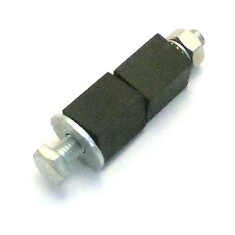 FIXATION POUR TUBE CARRE M10X90 DIAM 21 A 22.5MM ELASTOMERE - TIQ65612