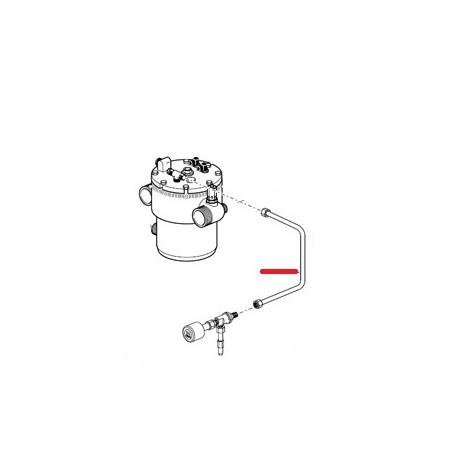 TUYAU CHAUDIERE ROBINET DECHAR ORIGINE SPAZIALE - FCQ432