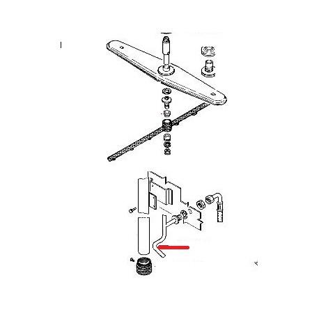 TUBE RINCAGE LS1105 ORIGINE RANCILIO - ENQ310