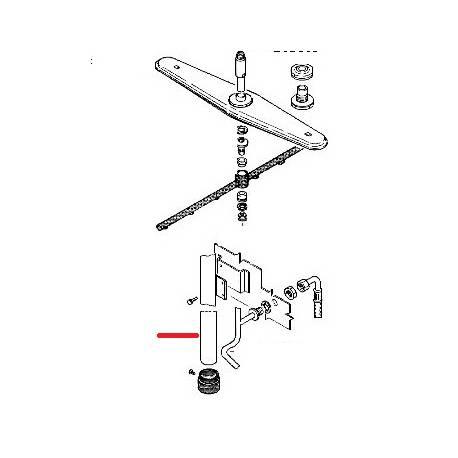 MONTANT LAVAGE LS1105 ORIGINE RANCILIO - ENQ313