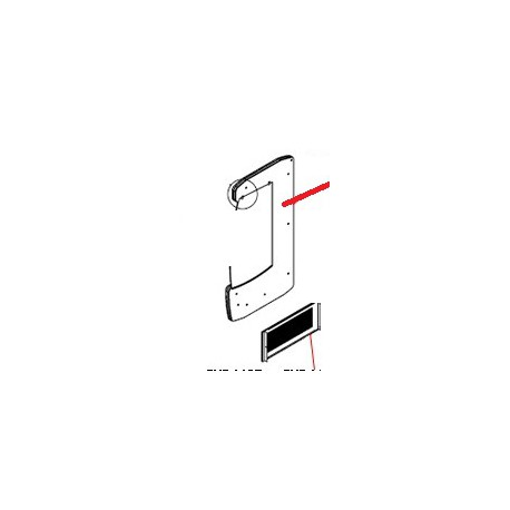 GRILLE LATERALE AMOVIBLE ORIGINE FRILIXA - SKQ6606