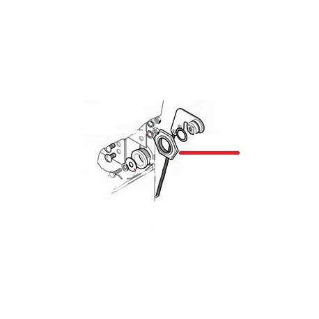 ECROU AXE DE PORTE AVEC RESSOT ORIGINE LAMBER - TIQ10745