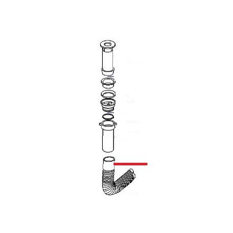 TUBE VIDANGE ORIGINE UNIVERBAR - HAQ639