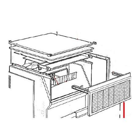 PORTE MACHINE A GLACON 40KG ORIGINE SCODIF - JO5526